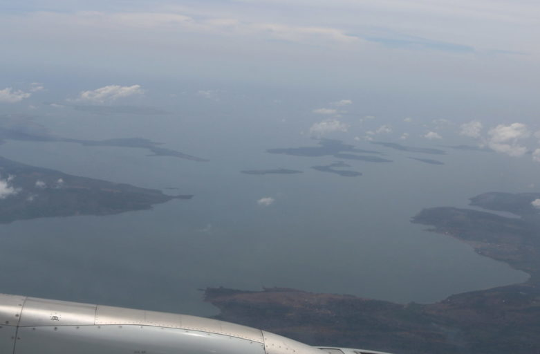 Arrival over the great Lake Victoria